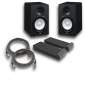 "Yamaha HS7 Powered Studio 7"" Monitor Pair with Auralex Mopads and Cables"